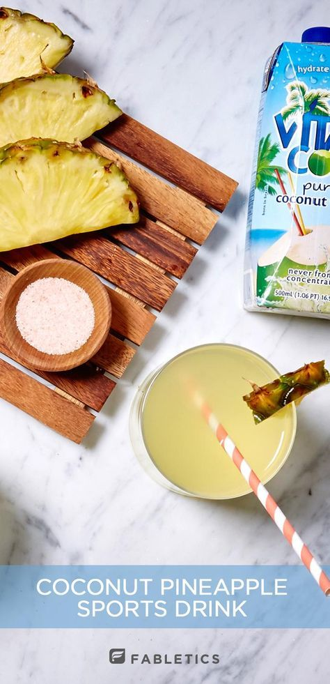 For those especially sweaty workout sessions when you need to replenish your body with natural electrolytes and antioxidants, ditch the store-bought sports drinks that are filled with mysterious natural flavorings and artificial dyes, and make your own bottle at home! DIY Coconut Pineapple Sports Drink