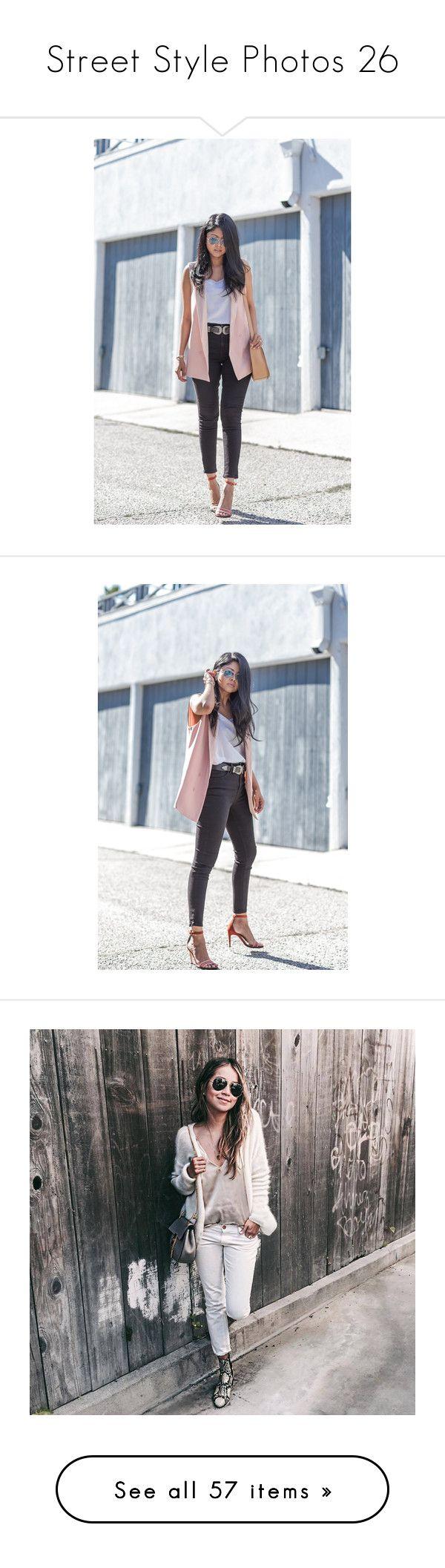 """Street Style Photos 26"" by chocolatepumma ❤ liked on Polyvore featuring outerwear, coats, camel coat, white coat, maternity, jackets, blazers, grey, gray tuxedo jacket and gray blazer"