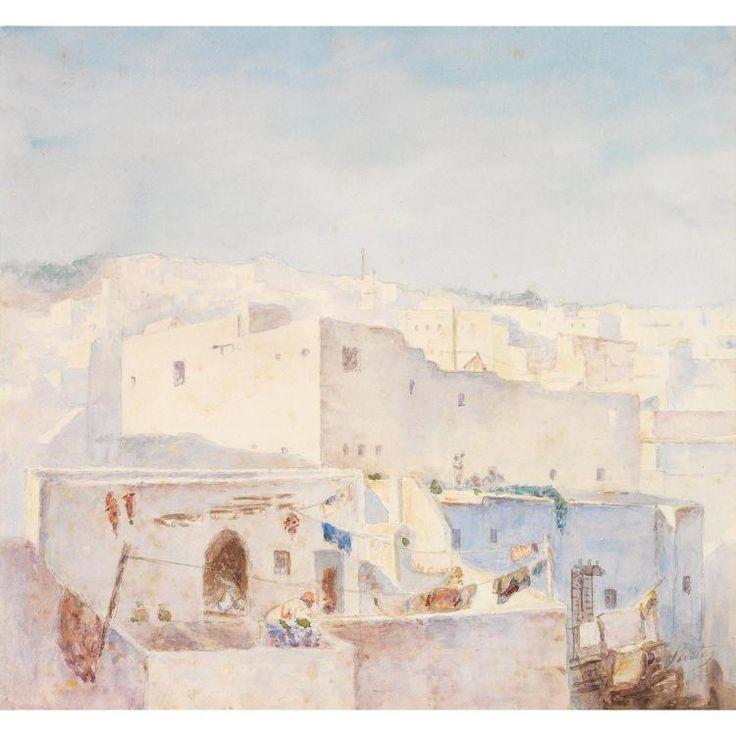 Joseph Sintes (Alaior 1829 - Alger 1913) Titre « Casbah d'Alger »