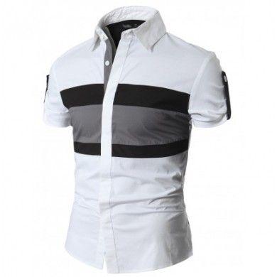 Lo encuentras en http://spektrodesign.com/camisa-blanca-franja-horizontal.html
