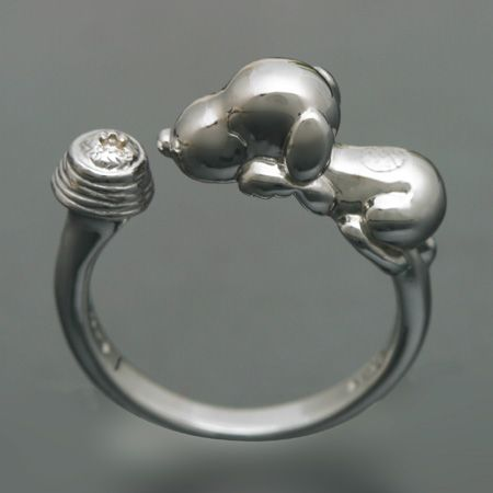 snoopy snoopy and best happiness ring silver snoopy