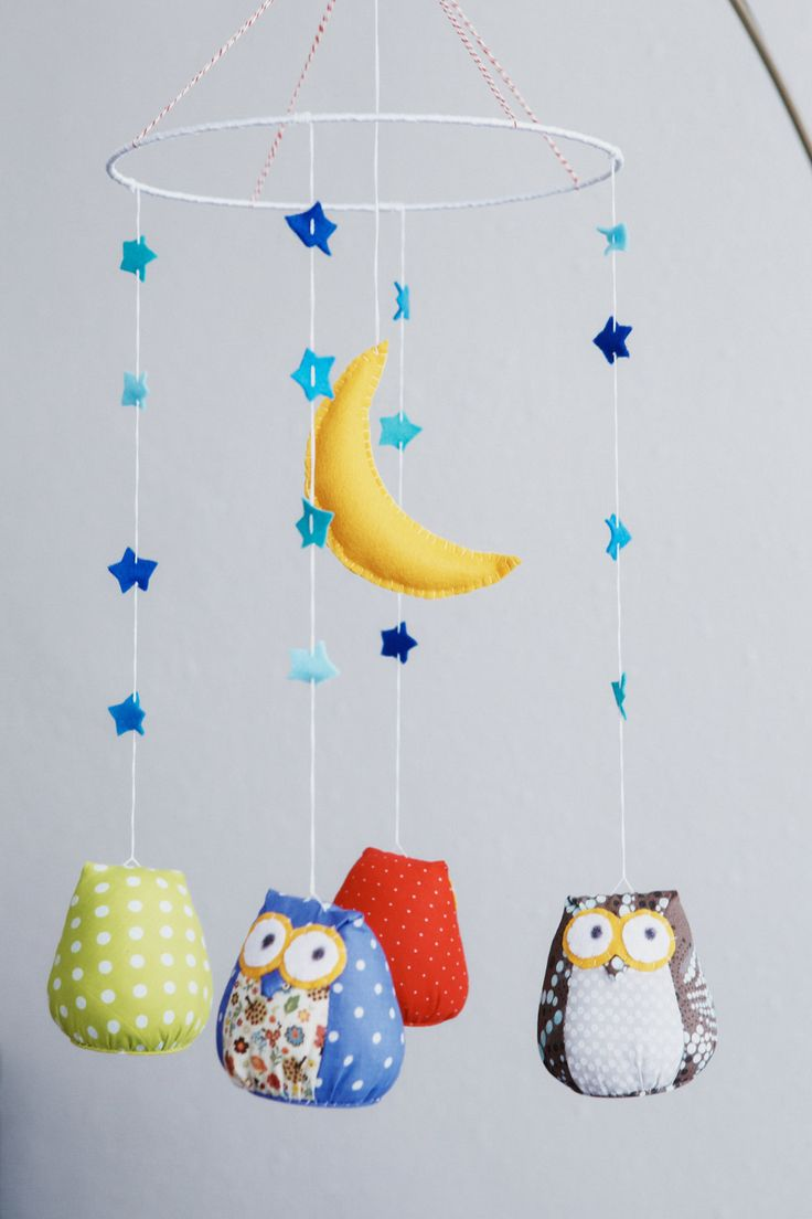 Owls baby nursery mobile