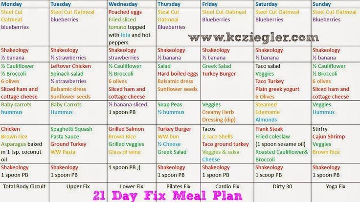 21 Day Fix Menu Plans: 1500-1799 Calories   21st, Meals ...