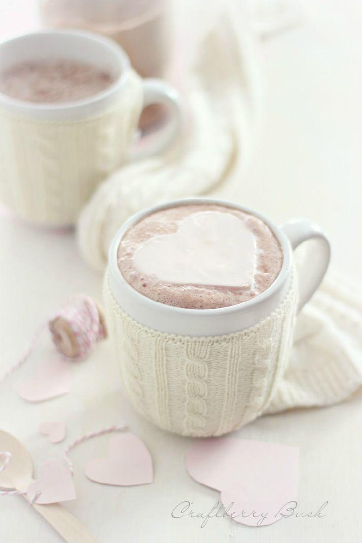 Freezing Whipped cream to make hearts for your hot chocolate. What a great idea!: