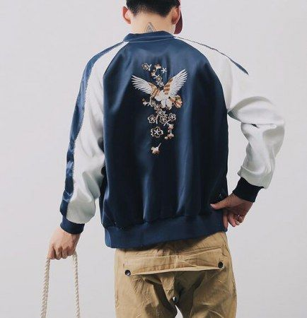 Streetwear vintage embroidered bomber jacket for men eagle jacket clothing  navy   embroidered bomber jacket for men   Bomber jacket men, Bomber Jacket,  ... 4f958dad92e9