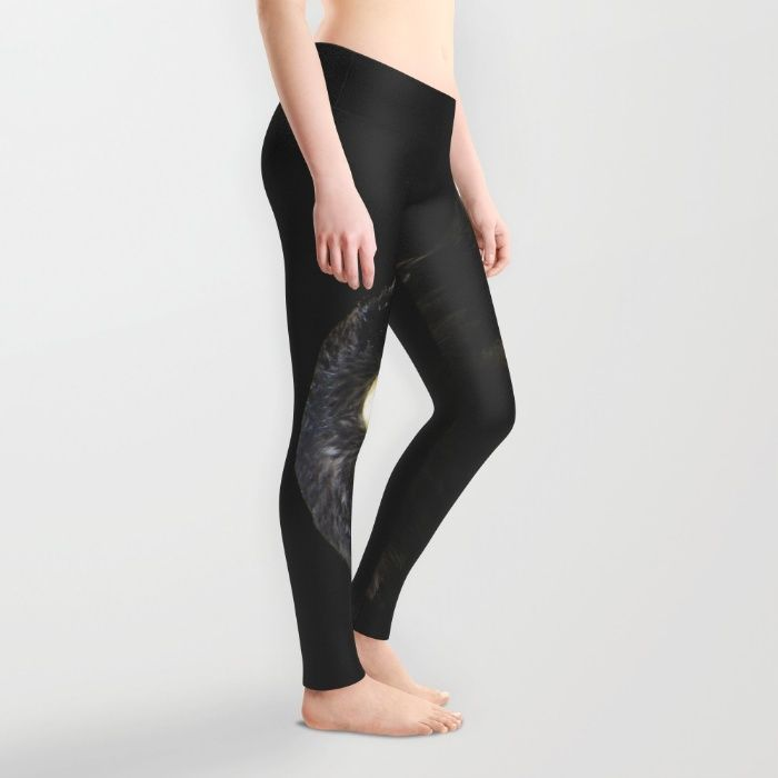 Steppe Eagle Leggings by Mixed Imagery | Society6