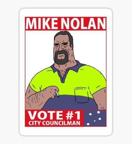 Pegatina Vote Mike Nolan - The Big Lez Show