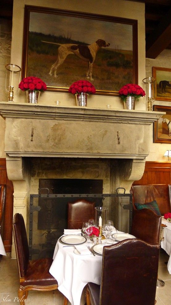 HOME DECOR – FIREPLACE – Ralph's restaurant, Paris. Slim Paley photo
