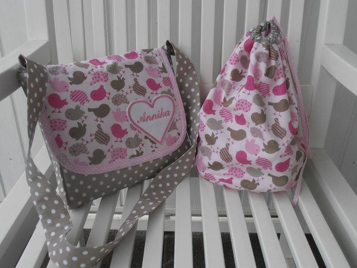 Kindergartentaschen - Kindergartentasche   Turnbeutel Spar-Set,mit Namen - ein Designerstück von Suzy bei DaWanda