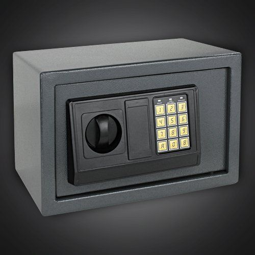 GotHobby Digital Electronic Safe Box Keyless Lock for Home Hotel Office  Gray Model -- Check out the image by visiting the gardening link.