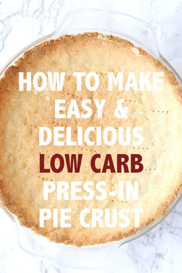 The best and easiest low carb press in pie crust. This almond flour crust is perfect for both sweet and savory recipes. So I am going to keep this one short and sweet...because this really is a short and sweet little recipe. It's quick, it's easy, and it's delicious. It's also extremely versatile. You can fill it with all sorts of delicious fillings, from lemon to chocolate to strawberry rhubarb. You can pre-bake it for cold fillings or bake with the fillings inside. It can ev...