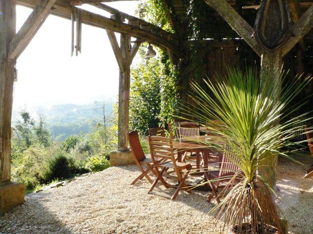 Kamperen, chalet, bakhuis... Hermitage Rochas Couchaud in de Dordogne.