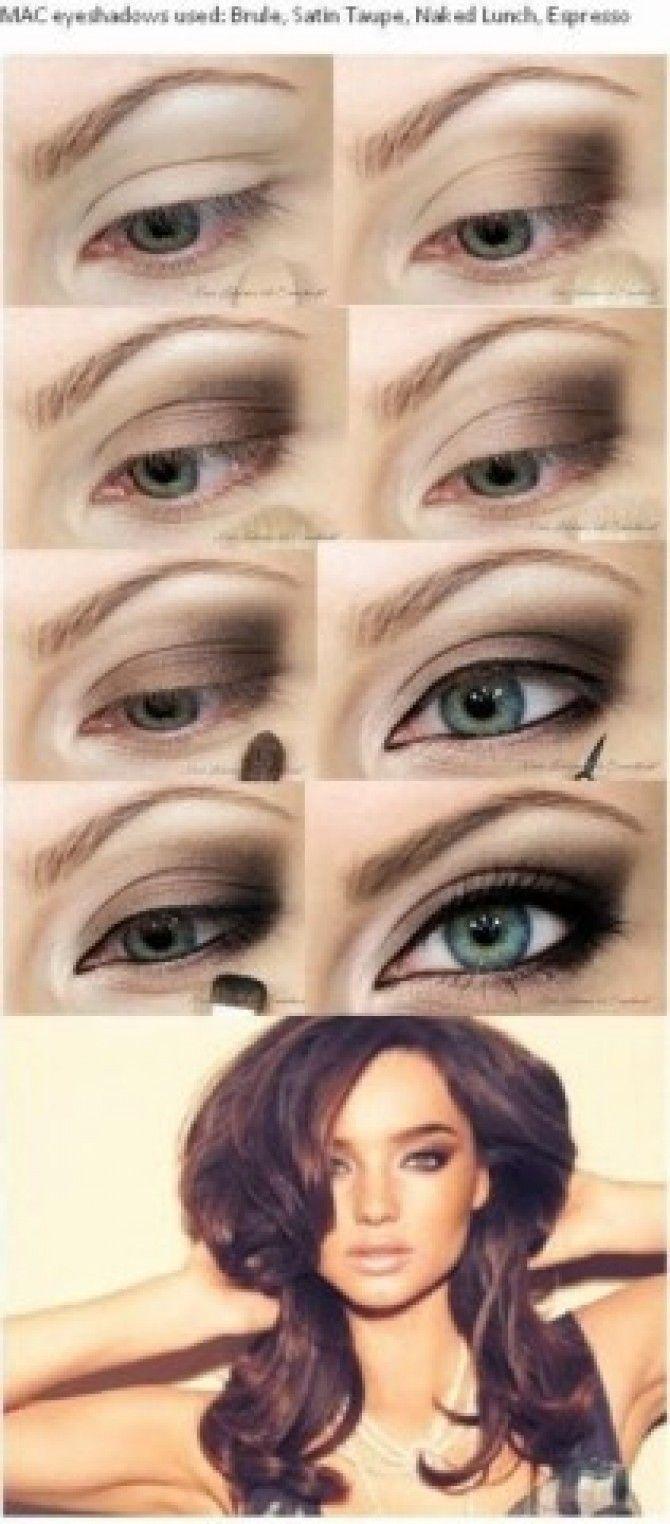 Miranda Kerr-inspired eye makeup tutorial from |