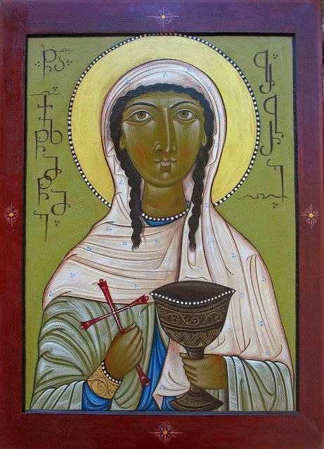 Icon of St. Barbara the Greatmartyr More martyr icons: http://whispersofanimmortalist.blogspot.com/2015/04/icons-of-martyrs-1.html