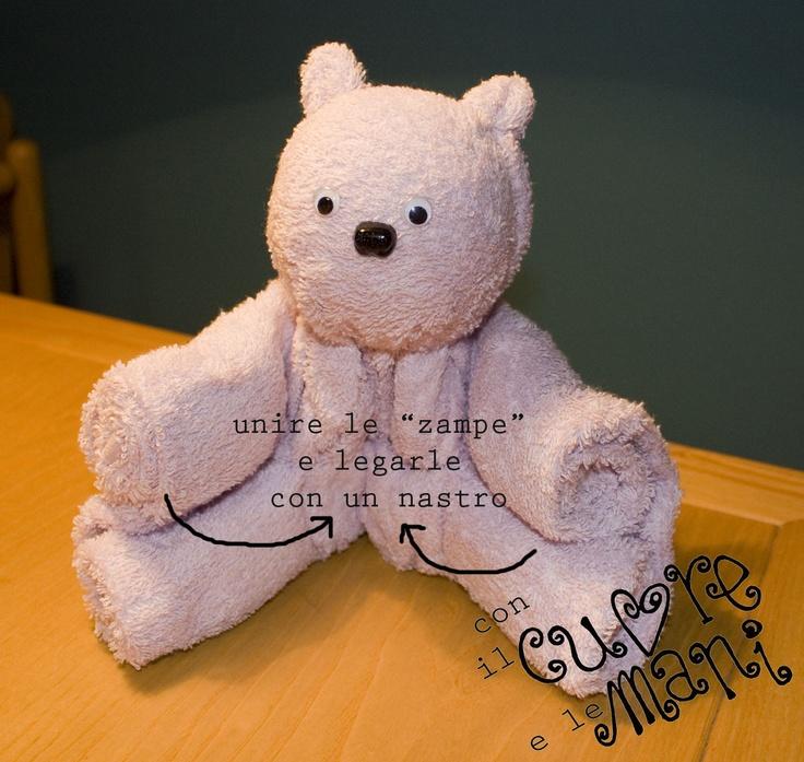 Con il cuore e le mani tutorial orsetti easter pasqua for Animali con asciugamani