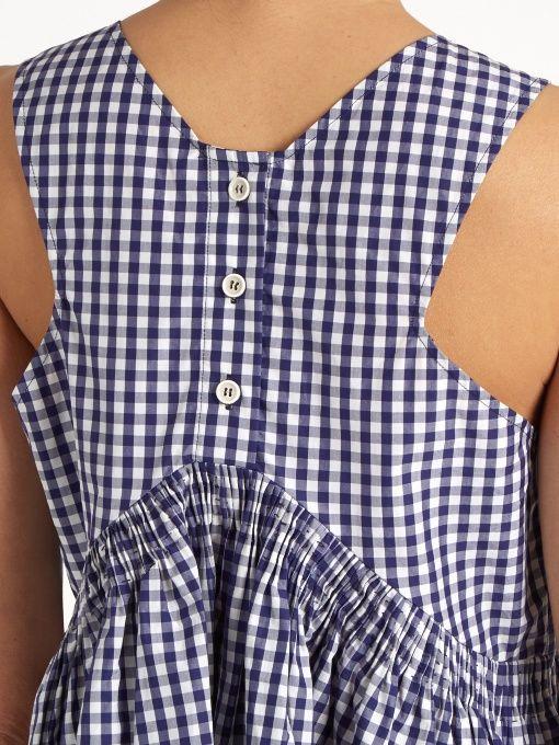 Sleeveless Cotton Gingham Top