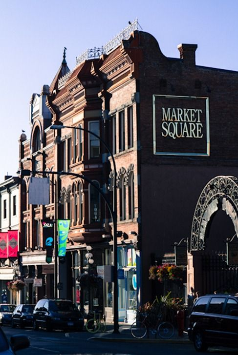 Entrance to Market Square,  Victoria, British Columbia –