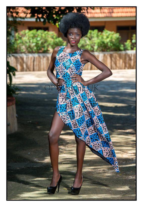 African print dress, short African print dress, African dress, short African dress