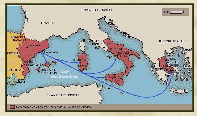 REINO DE ARAGON   La expansión de la Corona de Aragón en el Mediterráneo en la Edad ...