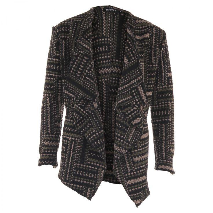Warm legergroen Vest Isa voor herfst / winter 2016 2017 van SRNDPTY | Dresses Only