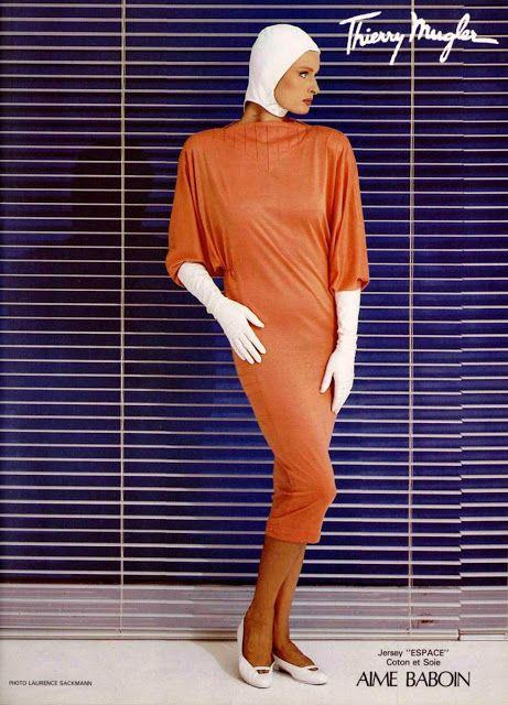 ANNA JONSSON Thierry Mugler Ad   1983