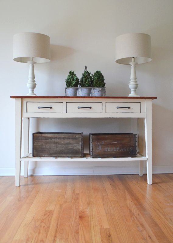 Lindsey Vogel Design Transforms A Sofa Table With Old Ochre Chalk Paint®