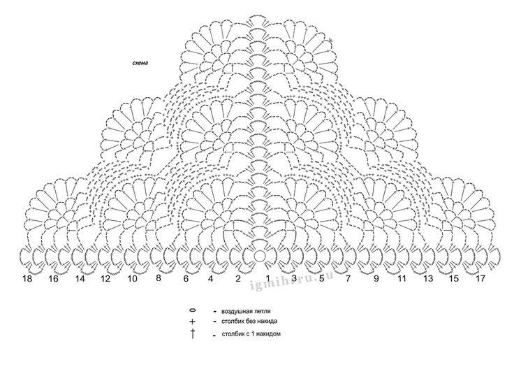 125 best Häkelschrift Dreiecktuch images on Pinterest