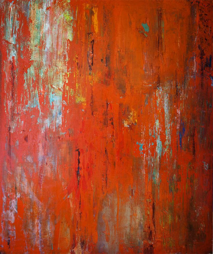 Manolis Pentes 'Composition in red' 2016 acrylic 100X120cm