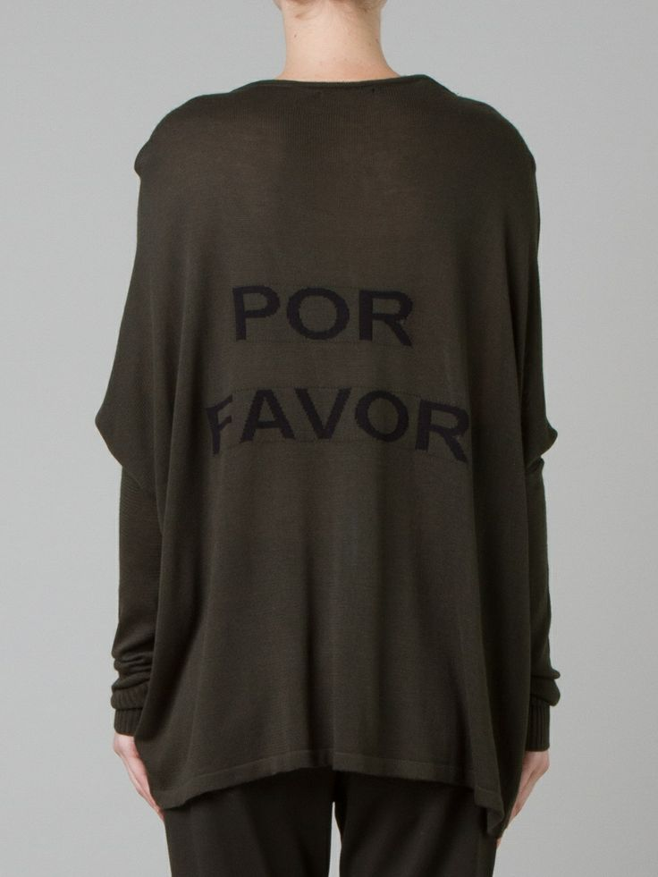 """POR FAVOR"" - Tricô mullet de mangas longas ::: ""PLEASE"" (in portuguese) - Long sleeves mullet knit ::: #UMAOutonoInverno14"