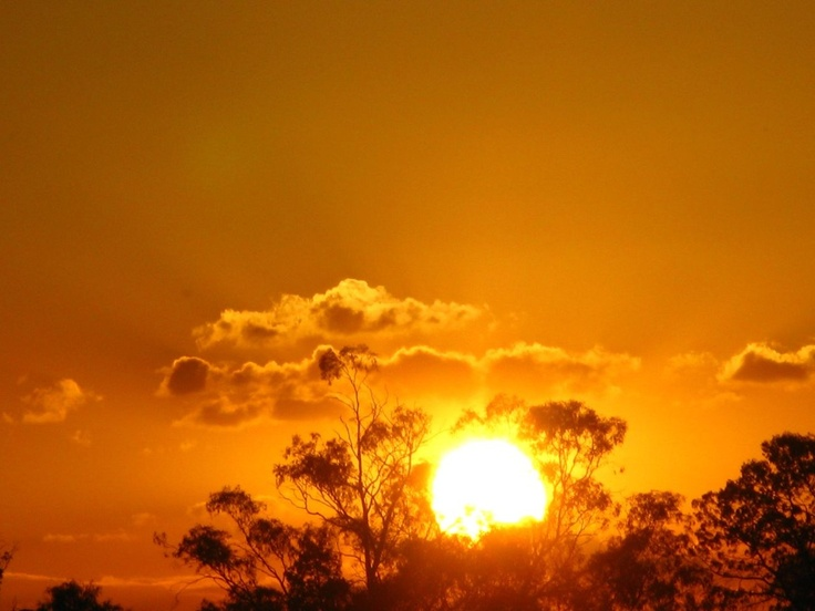 An amazing sunset at Echuca Australia