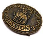 Пряжка National Finals Rodeo Hesston 1979 NFR