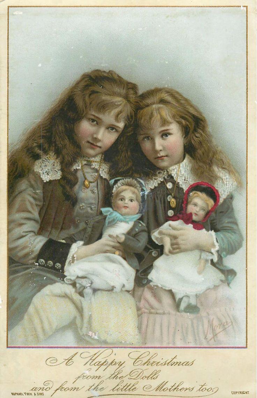Открытки со старинными куклами, можно оформить