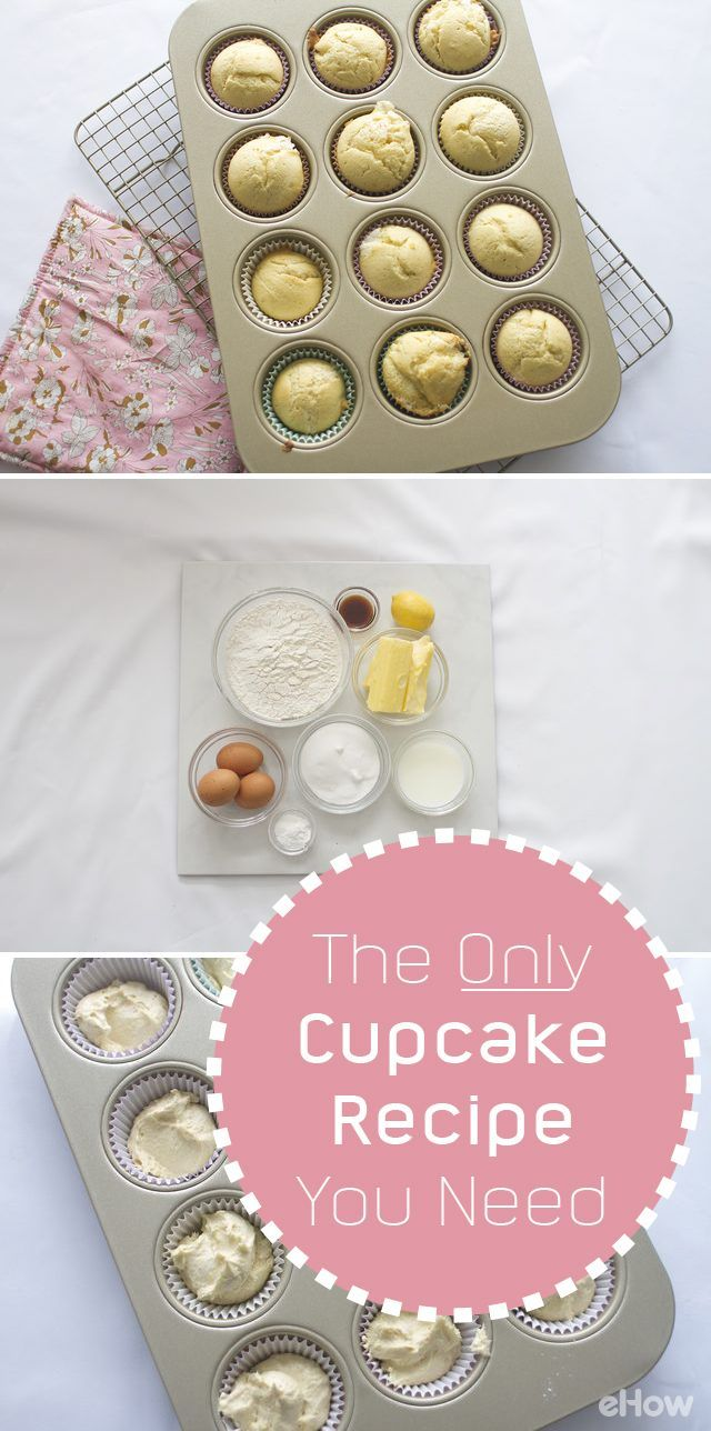 If you don't have a go-to recipe for vanilla cupcakes, then look no further! This classic recipe creates soft, fluffy and moist cupcakes. It can be used over and over again as a delicious base for a variety toppings (such as an easy to make whipped cream frosting or a delicious buttercream frosting) and decorating ideas. http://www.ehow.com/how_4887037_make-cupcakes.html?utm_source=pinterest.com&utm_medium=referral&utm_content=freestyle&utm_campaign=fanpage