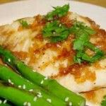 How to cook halibut with rice wine and fresh cilantro