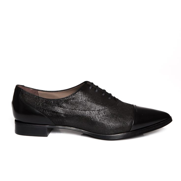 Zurbano | Senzo - lace-up oxfords in metallic textured suede, with matte leather toe and counter