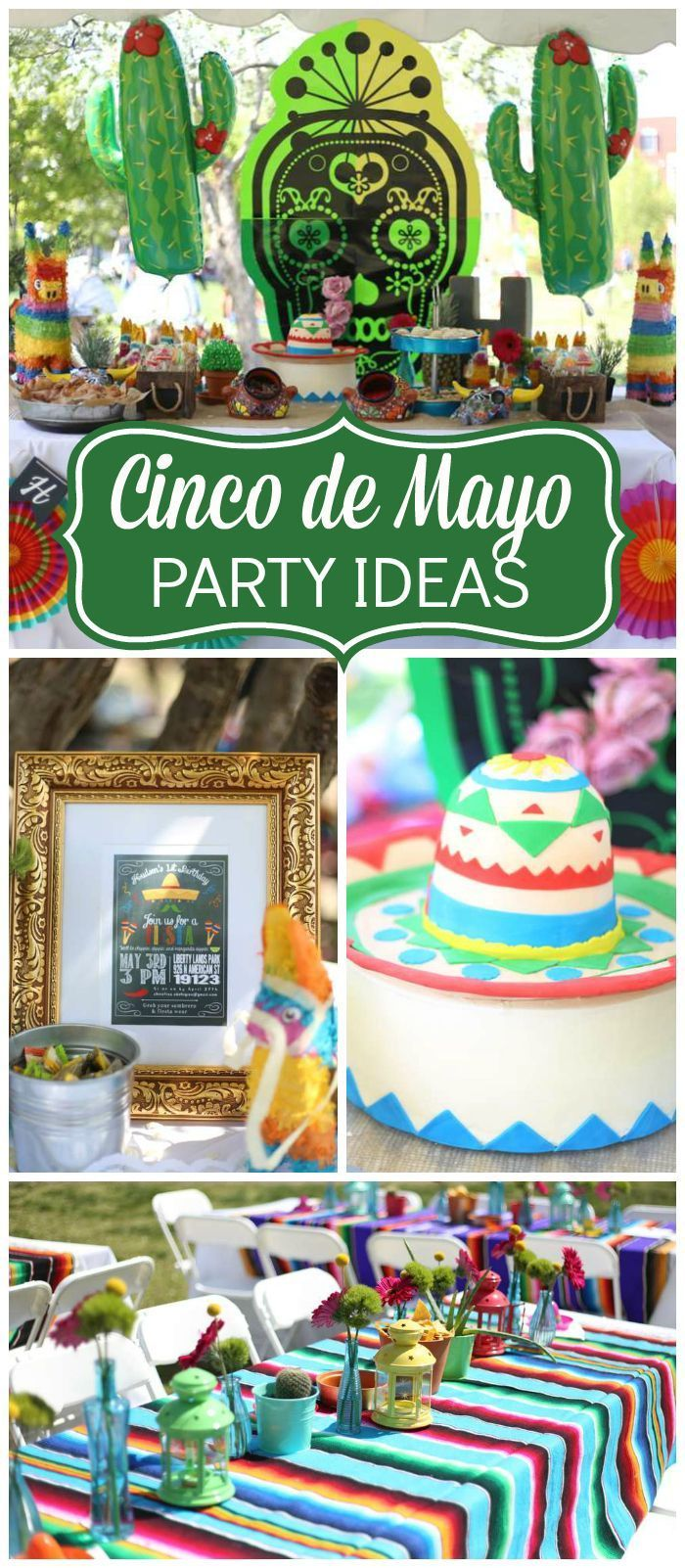 Mexican fiesta party decorating ideas hosting guide - Check Out This Cinco De Mayo Party With A Taco Bar And Pinata See More