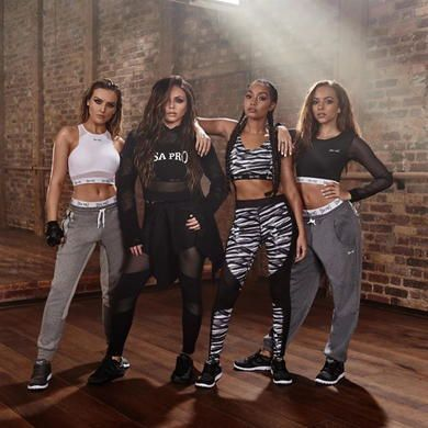 USA Pro | USA Pro Little Mix Panel Tights Ladies | Ladies Workout Pants and Shorts