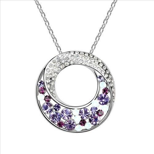 $11,2 Magic glitter Swarovski crystal necklace - Yohanna Jewelry Wholesale. BEST PRICE: Directly in the jewelry factory. VAT-free shopping: Available, partners based in the European Union, only applies to EU tax identification number (UID). Exclusive design SWAROVSKI crystals and AAA Zircon crystal jewelry and men's stainless steel jewelry and high-quality stainless steel jewelry for couples sell in bulk to resellers! Please contact us.