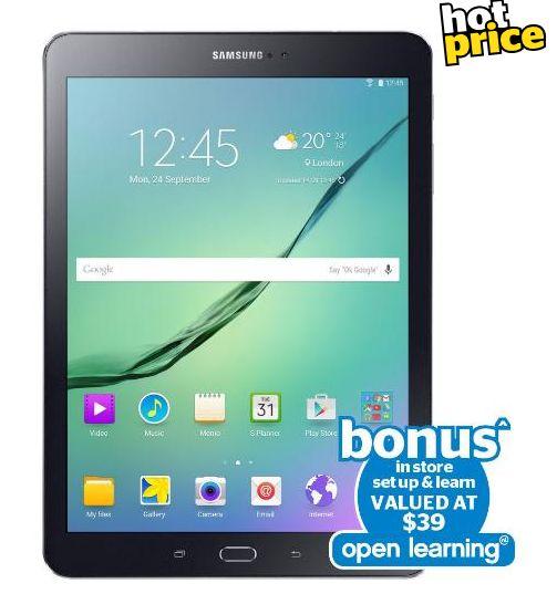 "Noel Leeming Gift Ideas for the Tech Savvy Dad - Samsung Galaxy Tab S2 8.0"" Black Wi-Fi Tablet + Instore Setup, $599"