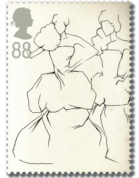 RSA Fashion Classics postage stamps - McQueen by Valentina Athanasiou, via Behance