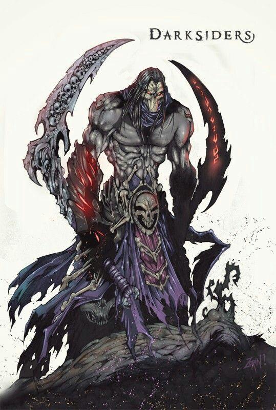 Darksiders / Death by Trustkill-Jonathan on DeviantArt #Death #Darksiders #Darksiders2 #Fourhorsemen #Blades