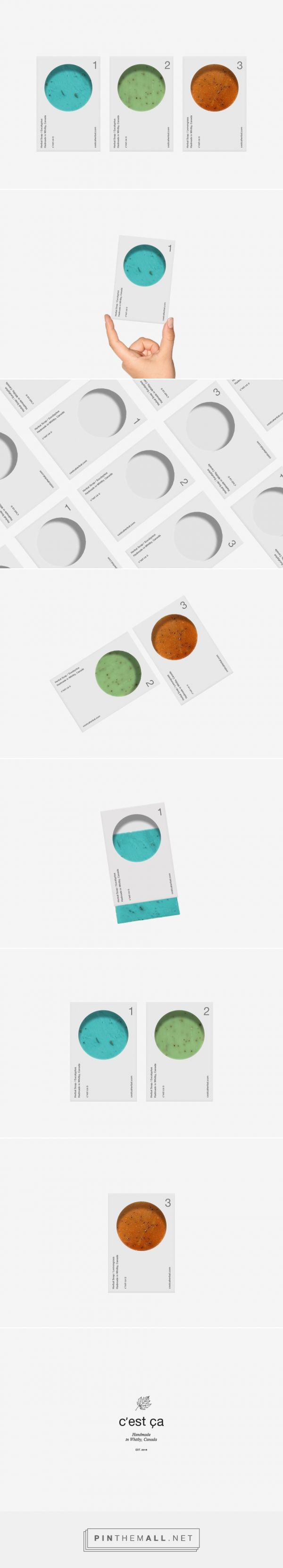 C'est Ça Handmade soap packaging design by Aleksandar Cvetković, Inc. - http://www.packagingoftheworld.com/2016/11/cest-ca.html