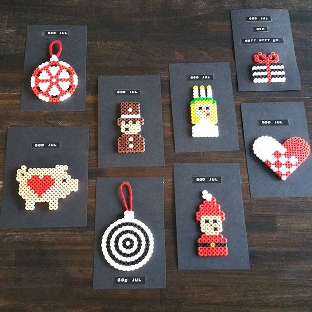 Christmas cards hama beads by  arctos_design