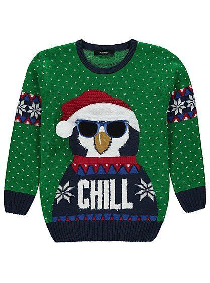 Cute Christmas Jumper Christmas Knitted Penguin Jumper