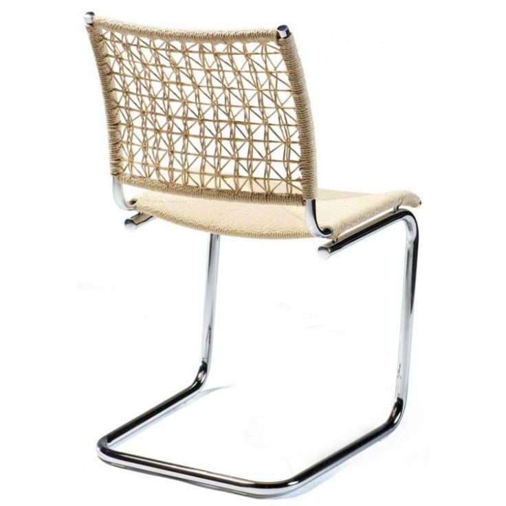 Beta Matstol i rotting och metall, naturfärgad :: Matbord och stolar, Matbord och stolar > Matstolar och Stolar