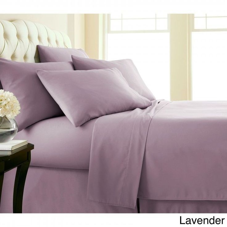 Queen 6-piece Sheet Set Extra Deep Pocket Flat Fitted Sheets Pillowcase Lavender #Southshore #Contemporary
