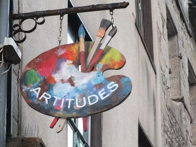 Artitudes art shop sign