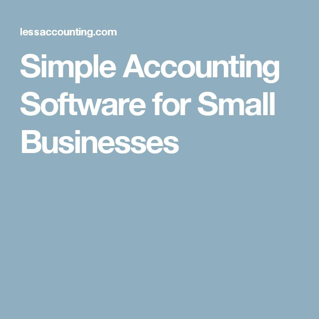 Simple Accounting Software for Small Businesses