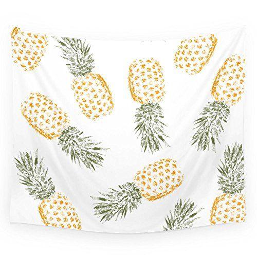 """Society6 Pineapple Wall Tapestry Small: 51"""" x 60"""" Society6"""