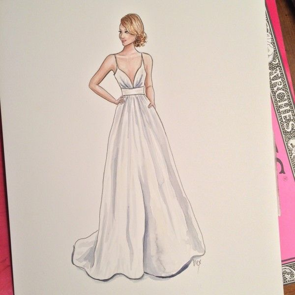 Blog entry about my @lulakate wedding dress illustration. Love that this dress has pockets!